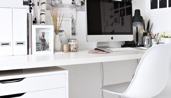 Hallo witte werkplek bolig inspiration pinterest inspiration - Deco kamer kantoor ...