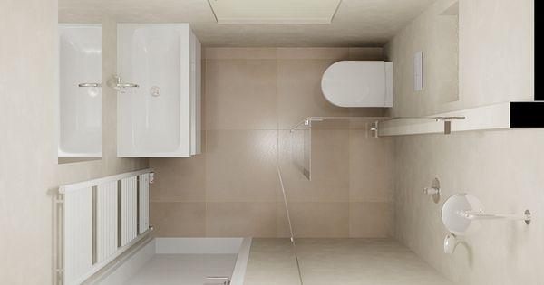 De eerste kamer een kleine badkamer met een ruimtelijk karakter licht en sfeervol meer foto - Badkamer in een kamer ...
