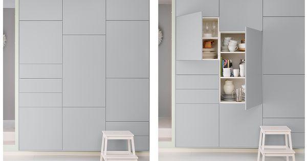 kuchenschranke grau : ikea wall cabinets Veddinge grey Keuken Pinterest Ikea ...