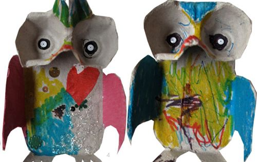 Cute egg carton owls recycled art ideas pinterest for Owl fish clothing