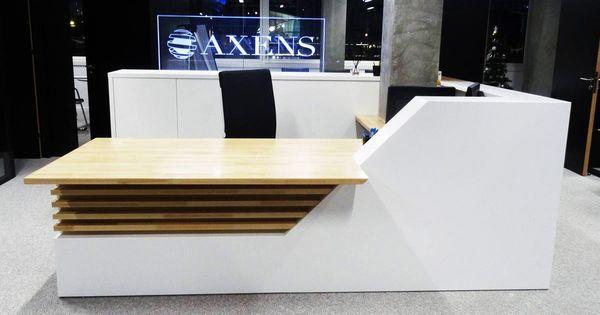 Mobilier de bureau en solid surface banque et tables for Mobilier bureau 63