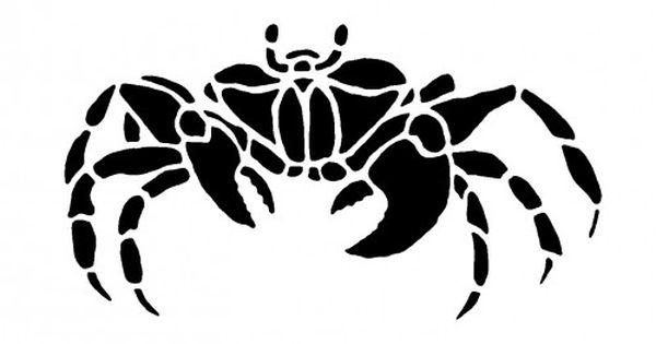 wall stencils lobster hermit crab crab reusable