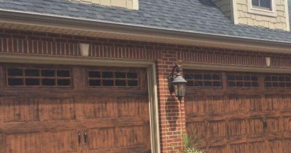 Gel stain garage doors garage doors pinterest stains for How to stain a garage door