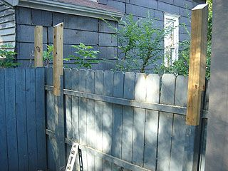 Fence Posts Made Taller By Adding Extra Length Of 4x4 With
