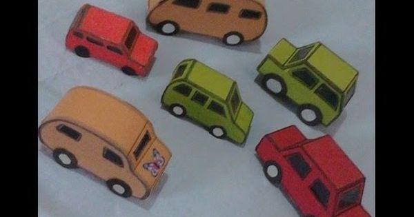 كيف تصنع سيارات مختلفة الموديلات How To Make Several Cars Toy Car Kindergarten Car