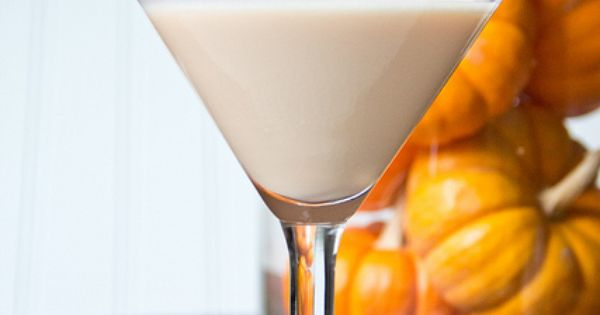Pumpkin Martini Time: 3 parts V-One vodka and 4 parts Fulton's Harvest