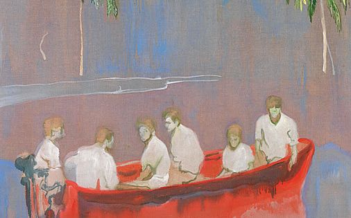 Peter Doig, Figures in a Red Boat (© and courtesy of the