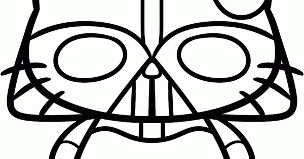 How To Draw Darth Vader Hello Kitty Step By Step