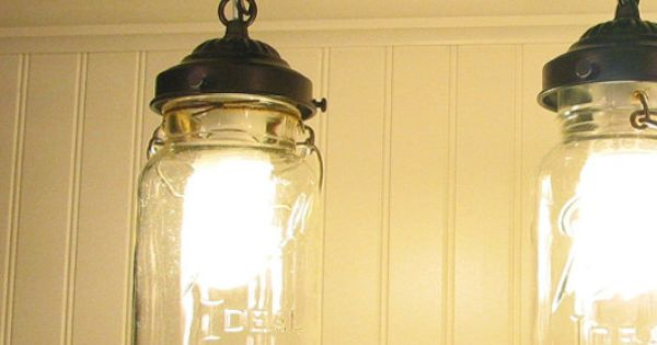 Shop Kichler Lighting 4 Light Bayley Olde Bronze Bathroom: Mason Jar TRACK LIGHTING Pendant New Quart