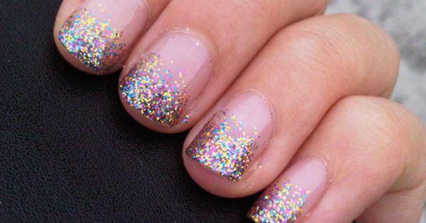 sparkle nail polish.