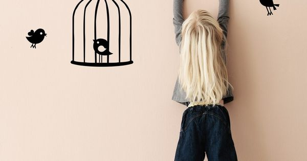 Tweeting Birds Wall Decal by ferm living - Spark Living - online