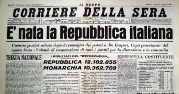 Verosimilmente Vero Festa Della Repubblica Savoia Alla Riscossa Storia Vecchio Giornale E Giornale