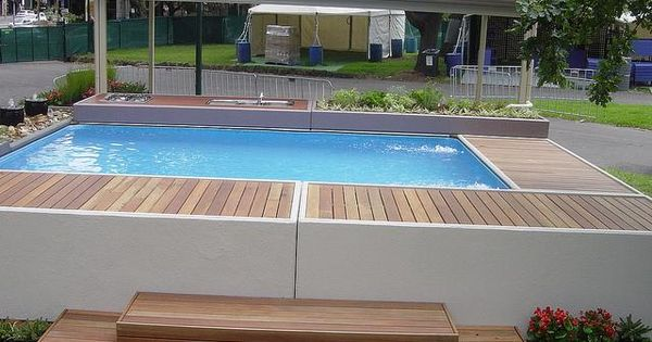 Stunning above ground concrete pools better looking for Best looking above ground pools