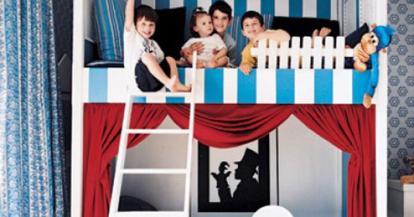 Puppet theatre bunk beds. ELLE DECOR