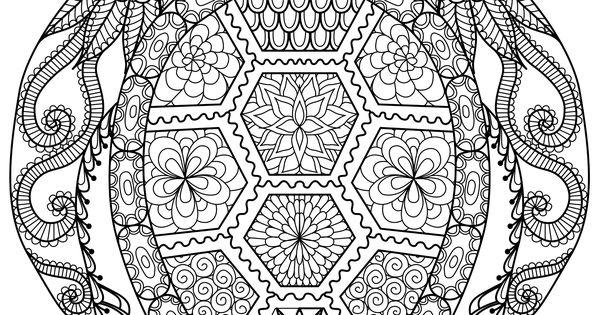 ausmalbilder schwer meeresschildkröte 01  tattoo vorlagen