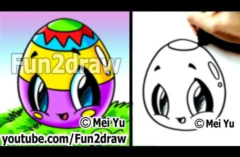 Kawaii Easy Cute Things To Draw For Beginners Easter Egg Art