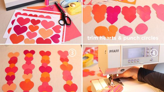 DIY Paper Heart Garland | The Elli Blog