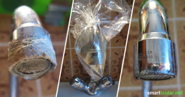 Wasserhahne Und Duschen Effektiv Entkalken Mit Hausmitteln Wasserhahn Duschkopf Hausmittel