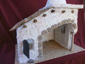 Portal De Belen Con Una Caja De Carton Portal De Belen Con Cajas De Carton Portal De Belen De Pasta De Sal Portal De Belenes Portal De Belen Casas De Carton
