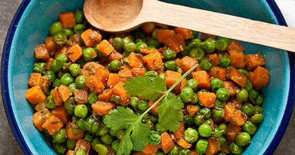 Stir fried carrots and peas   Carrots