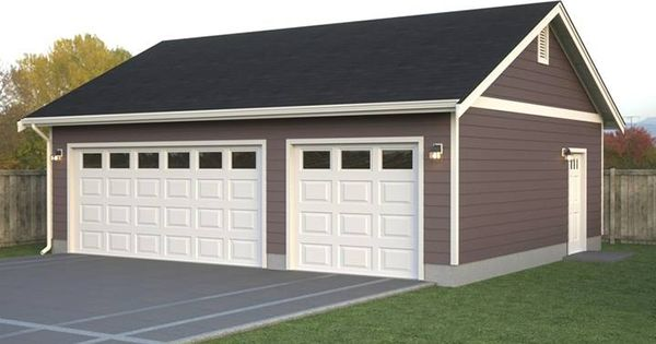 Simple Two Car Garage 92048vs: Simple Garage If You Need A Simple Detached Garage Layout