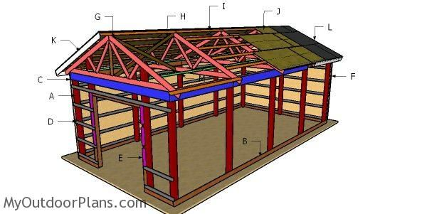 16 32 Pole Barn Roof Plans Diy Shed Woodworking Plans Free Diy Plans