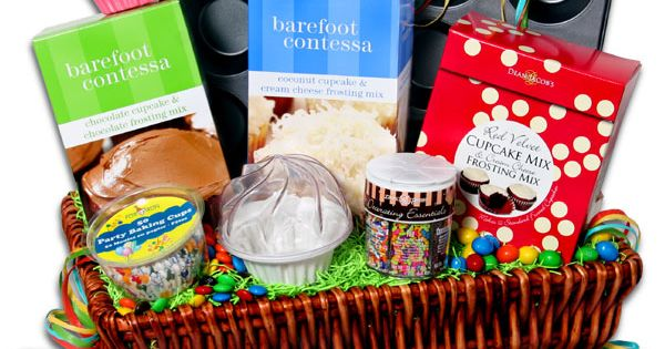 Cupcake Basket - More great silent auction basket ideas in this post