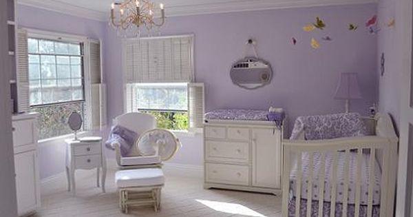 Habitación Del Bebé Lila Purple Baby Rooms Girl Nursery Room Baby Girl Nursery Room