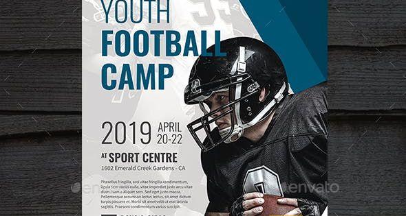 Football Camp Football Football Flyer Template Sports Flyer