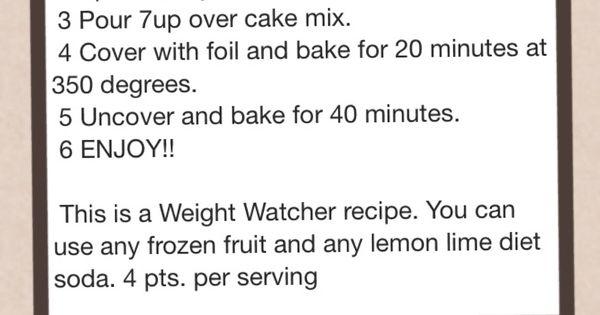 Diet Pop Cake Weight Watchers