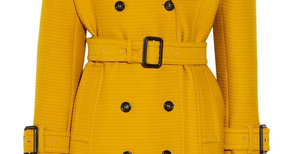 BURBERRY Mustard cotton/wool trench coat