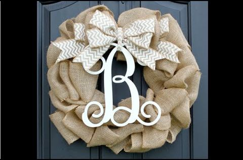 Burlap wreaths are a simple yet elegant craft idea which for What can i make with burlap
