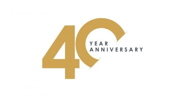 40 Year Anniversary Vector Template Design Illustration Vector And Png 40 Year Anniversary Company Anniversary Birthday Logo