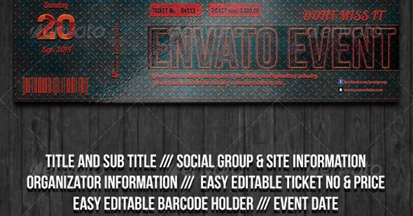 Elegant Carbon Event Ticket Event tickets, Ticket and Events - event tickets template word
