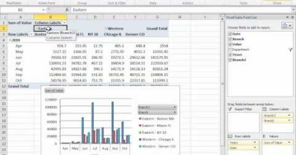 how to build a pivot table in excel 2010