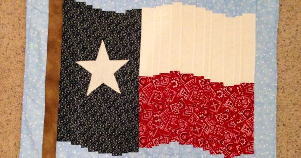 Texas Flag Quilt Wall Hanging In A Bargello Pattern Made