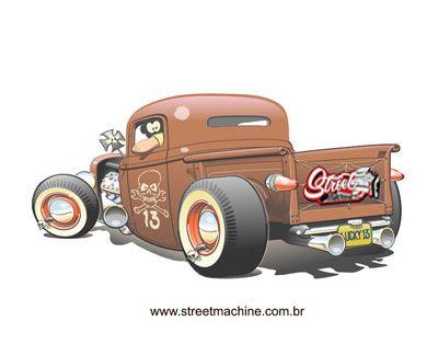Rat Rods Cartoons Rat Rod Drawings Http Www Streetmachine Com