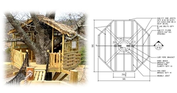 This Treehouse Plan Will Show You How To Build A 8