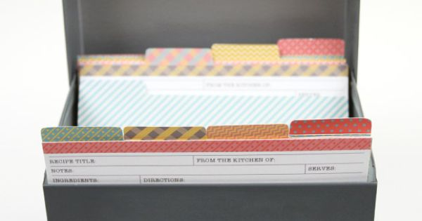 Matching Recipe Cards with Dividers - these are cute!