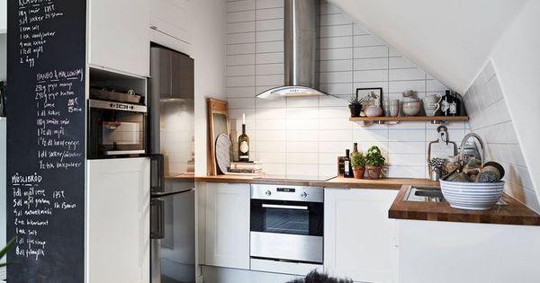 Paredes de pizarra para decorar la cocina paredes de - Pizarra para cocina ...