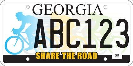 Do You Have A Ga Share The Road Car Tag Let Us Know We Ll Count You As An Honorary Member Tell Us By 11 3 License Plate Specialty License Plates Confederate