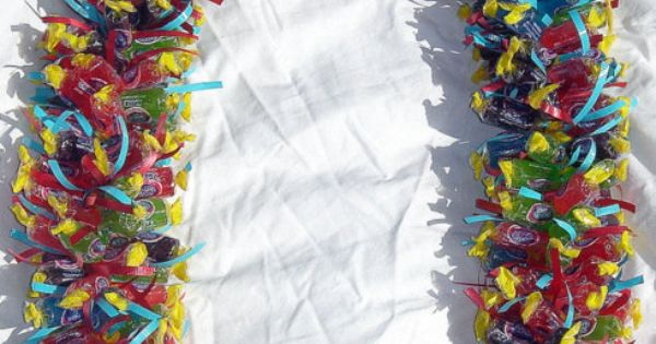 jolly rancher candy lei | These are the bride and groom kukui