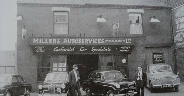 Pin By John Usher On 1950s 1960s Wigan Petrol Station British Cars