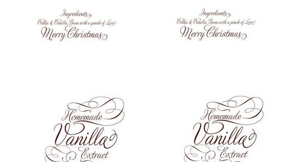 Vanilla Extract Label Printables Pinterest Vanilla