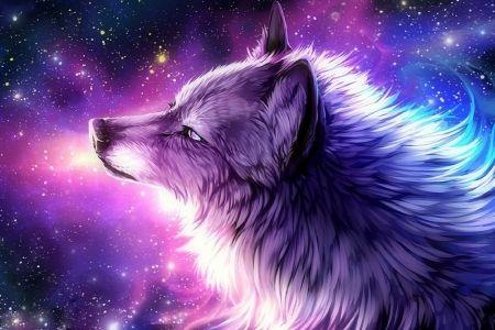 The Galaxy Wolf Desktop Nexus Wallpapers Anime Wolf Girl Galaxy Wolf Wolf Art