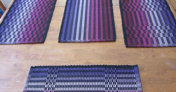 Ravelry Marydargie S Halcyon Rep Weave Mats Weaving