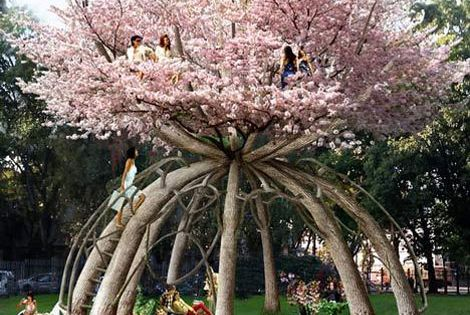 "Cherry Blossoms!!! --- Behold the ultimate tree house! What: ""The Patient Gardener"""