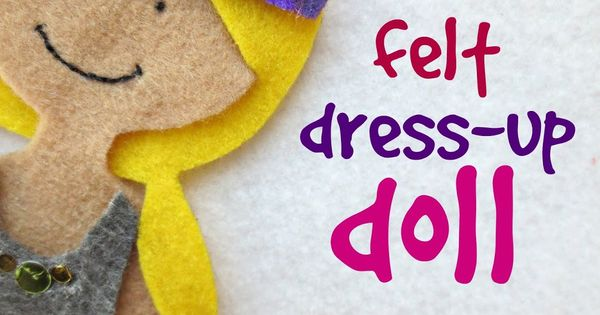 felt dress up doll template - diy felt dress up doll tons of outfit accessory and hair