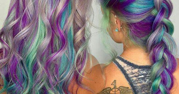 Silver Hair With Teal And Purple New Silver Hair