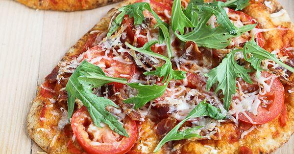 BLT Naan Pizza with Bacon, Arugula & Tomato | Recipe | Pizza, Bacon ...